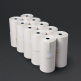 Fiesta Non-Thermal 2ply White and Yellow Till Roll 76 x 70mm (Pack of 20)