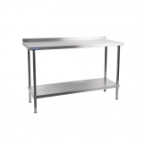 Holmes Stainless Steel Wall Table with Upstand 600mm