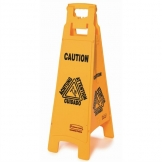 Rubbermaid Multilingual 4 Sided Wet Floor Safety Sign
