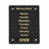 Beaumont Adjustable Opening Hours Display