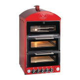 King Edward Pizza King Oven and Warmer PK2W Red