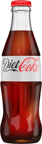 Coca Cola - Diet Coke (24x 330ml Bottles)