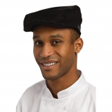 Chef Works Flat Cap Black L