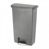 Rubbermaid Slim Jim Step On Front Step Pedal Bin Grey 68Ltr