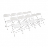 Bolero PP Folding Chairs White (Pack of 10)