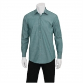 Chef Works Chambray Mens Long Sleeve Shirt Green Mist M