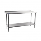 Holmes Stainless Steel Wall Table with Upstand 1800mm