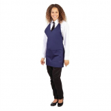 Whites V Neck Service Apron Navy Blue