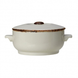 Steelite Brown Dapple Casserole Dish Lid (Pack of 6)