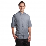 Chef Works Valais Signature Series Unisex Chefs Jacket Grey S
