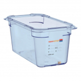 Aravan ABS Food Storage Container Blue GN 1/3 150mm