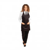 Whites V Neck Service Apron Black