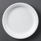 Olympia Whiteware Narrow Rimmed Plates 180mm (Pack of 12)