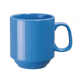 Olympia Heritage Stacking Mug Blue 300ml (Pack of 6)