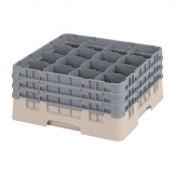 Cambro Camrack Beige 16 Compartments Max Glass Height 196mm