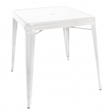 Bolero Bistro Square Steel Table White 668mm (Single)