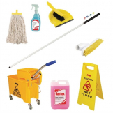 Jantex Colour Coded Cleaning Kit Yellow