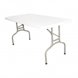 Bolero PE Rectangular Folding Table White 5ft (Single)