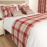 Luxury Chatsworth Bed Runner Claret Super King