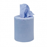 Jantex Blue Mini Centrefeed Rolls 1ply (Pack of 12)