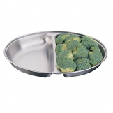 """Olympia Oval Vegetable Dish Two Compartments 252mm"""