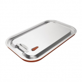 Vogue Stainless Steel and Silicone Sealable 1/1 Gastronorm Lid