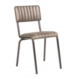 Core Side Chair - Ribbed - Lascari - Vintage Silver