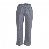 Whites Unisex Vegas Chefs Trousers Black and White Check XL