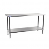 Holmes Self Asssembly Stainless Steel Centre Table 2100mm