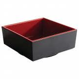 APS Asia+ Deep Square Bento Box Red 155mm