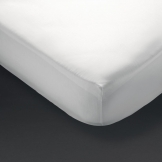 Comfort Percale Fitted Sheet White King Size (180 TC, Polycotton)