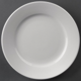 Athena Hotelware Wide Rimmed Plates 202mm (Pack of 12)