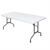 Bolero PE Rectangular Folding Table White 6ft (Single)