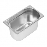 Vogue Heavy Duty Stainless Steel 1/4 Gastronorm Pan 150mm