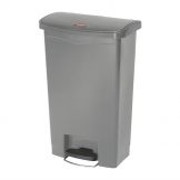 Rubbermaid Slim Jim Step On Front Step Pedal Bin Grey 50Ltr