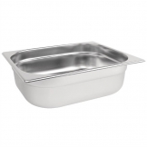 Vogue Stainless Steel 1/2 Gastronorm Pan 100mm