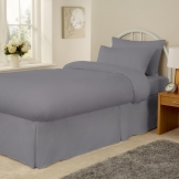 Essentials Spectrum Fitted Sheet Grey Super King (144 TC, 50/50 Polycotton)
