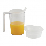 Able2 Clear Mug with Handle & 2 lids