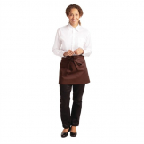 Whites Short Bistro Apron Chocolate