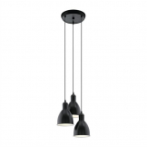 Eglo Priddy Steel Shade Pendant Trio