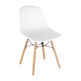 Bolero PP Moulded Side Chair White with Spindle Legs (Pack of 2)