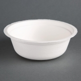 Fiesta Green Compostable Bagasse Bowls Round 18oz (Pack of 50)