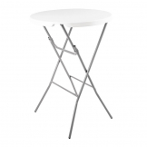Bolero Round Poseur Folding Table White 800mm (Single)