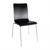 Bolero Black Square Back Side Chair (Pack of 4)
