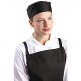 Whites Chefs Skull Cap Polycotton Black - XL