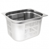 Vogue Stainless Steel Perforated 1/2 Gastronorm Pan 200mm