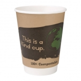 Fiesta Green Compostable Coffee Cups Double Wall 355ml / 12oz (Pack of 500)
