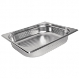 Vogue Stainless Steel Perforated 1/2 Gastronorm Pan 150mm