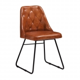 Harland Side Chair - Side Chair in Bruciato Leather