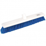 Jantex Hygiene Broom Soft Bristle Blue 18in